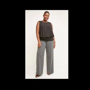 Lane Bryant Womens Allie Wide Leg Tailored Pants
